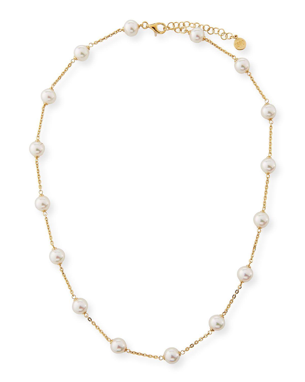 fe8b994d9dfa Majorica 8mm White Pearl Chain Necklace in 2019