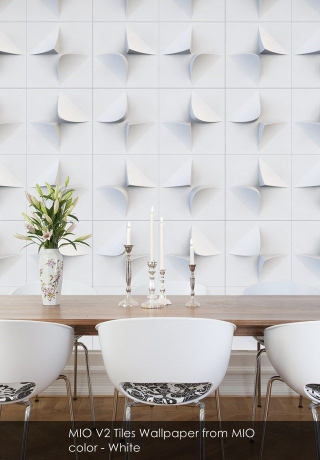 MIO V2 Tiles wallpaper from MIO in White