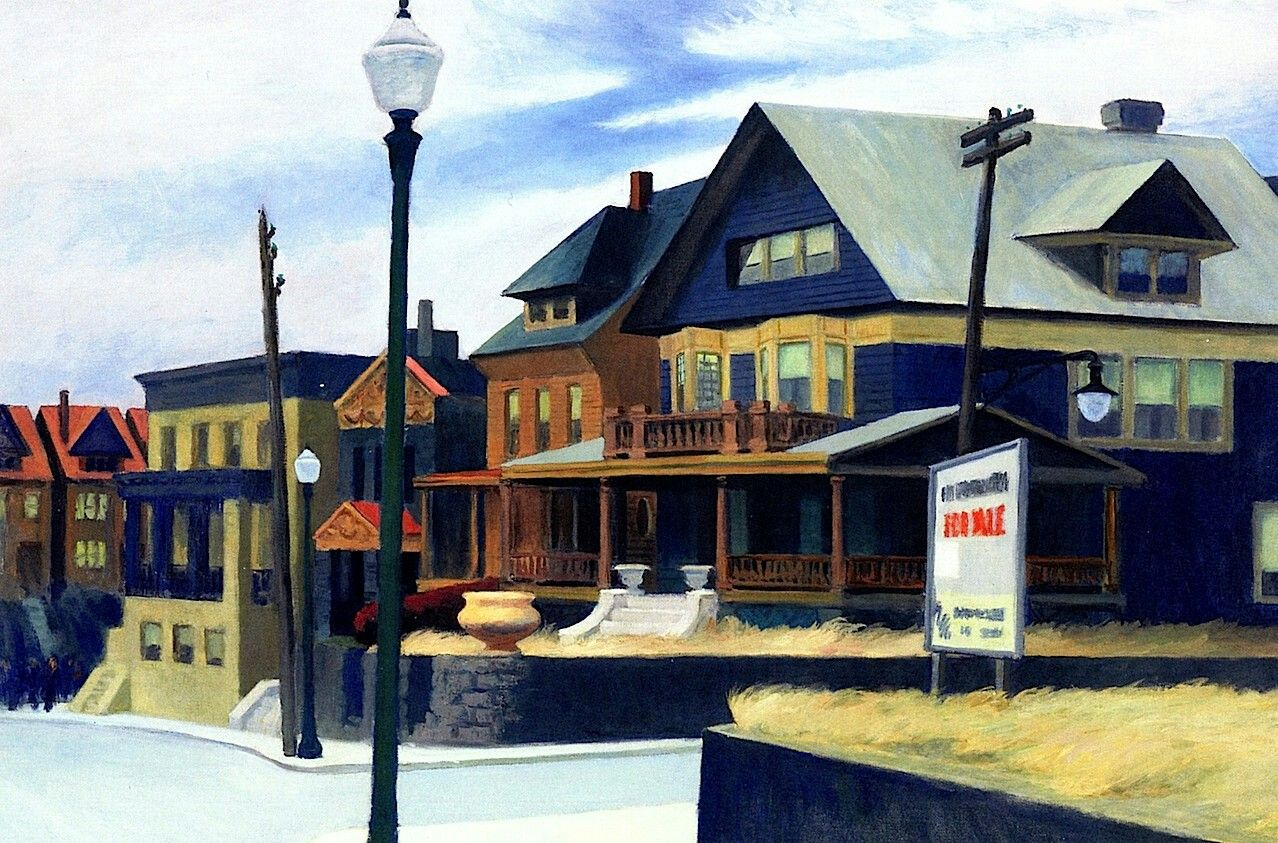 East And over Weehawken Edward Hopper - 1934