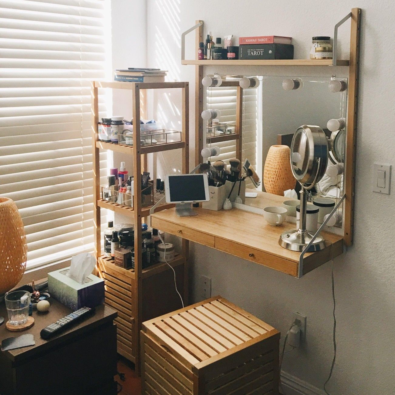Bamboo Vanity Ikea Svalnas Home Room Design Dressing Table Decor Ikea Svalnas