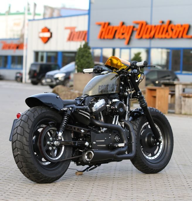 Thunderbike Harley Davidson Another View Of Our 48 Cafe Racer