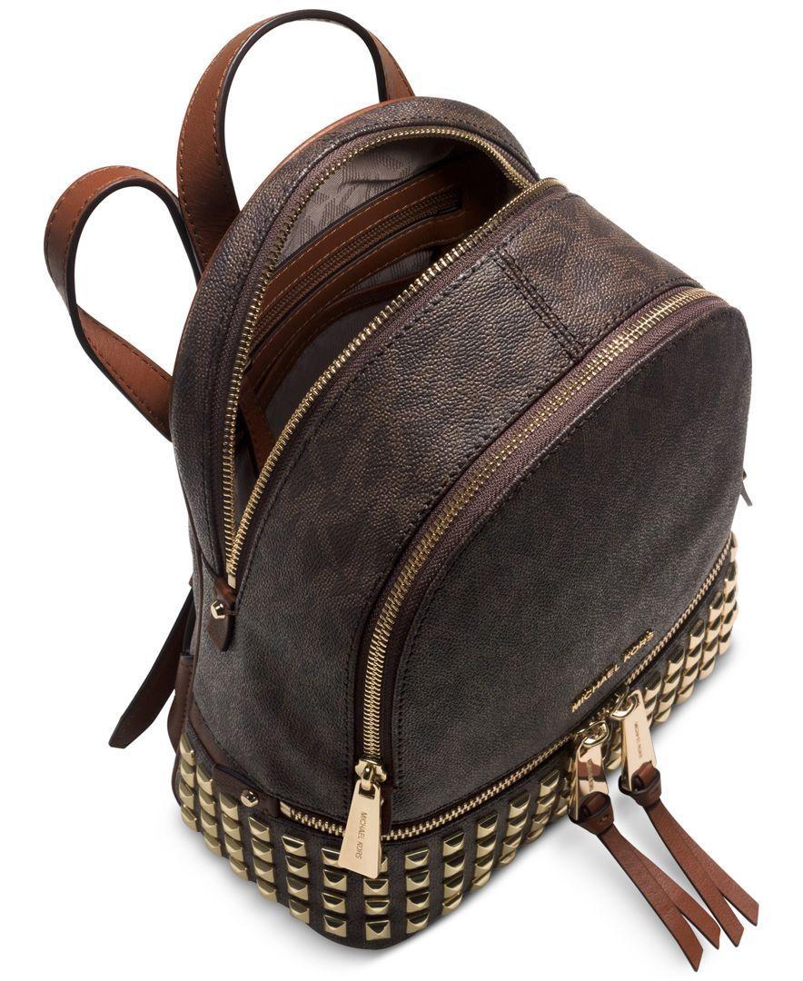 a620332c52d9 Michael Kors Rhea Zip Small Studded Backpack- Fenix Toulouse Handball