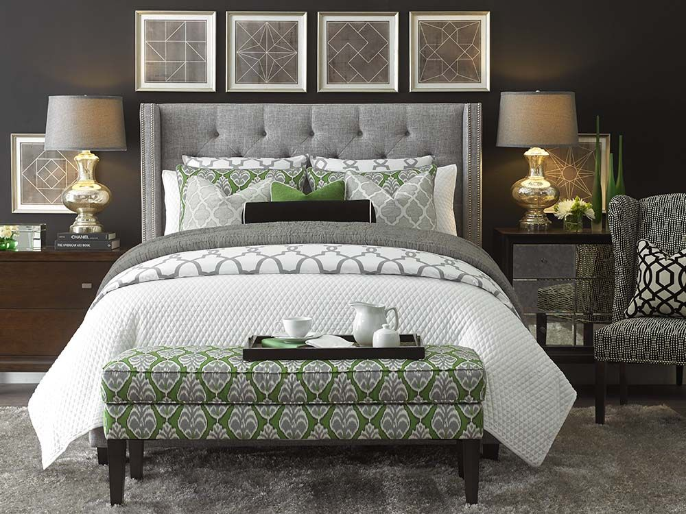 Captivating Dublin Upholstered Winged Bed By Bassett Furniture Is A Fully Upholstered  Straight Frame With Elegantly Proportioned Wings That Is Available As A  Headboard ...