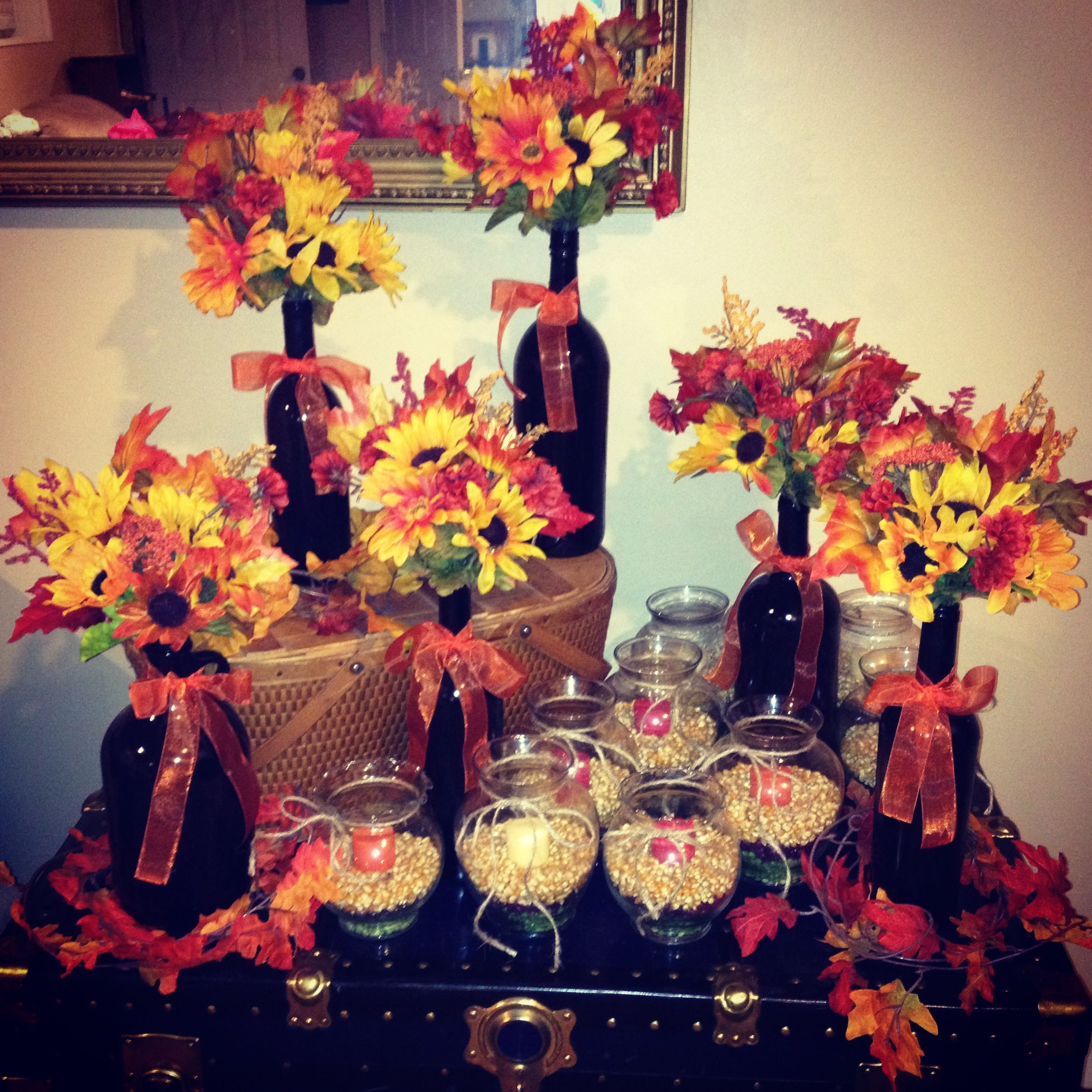Fall table decorations for my sister s engagement party