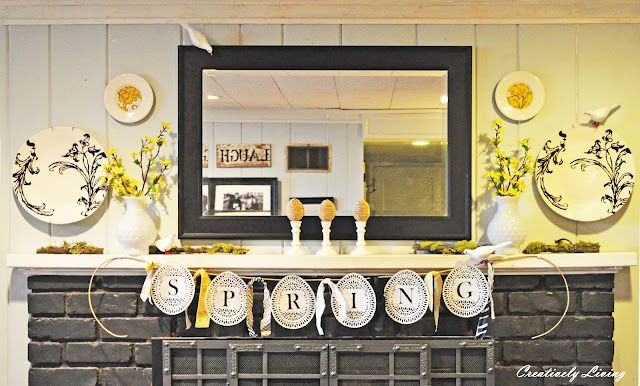 Spring Mantel from Creatively Living