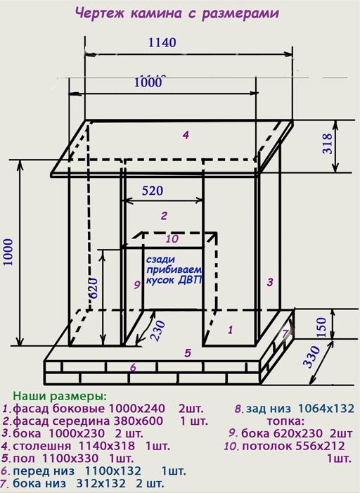 Схема чертеж изготовления рамки электрокамина портал для электрокамина опера 3