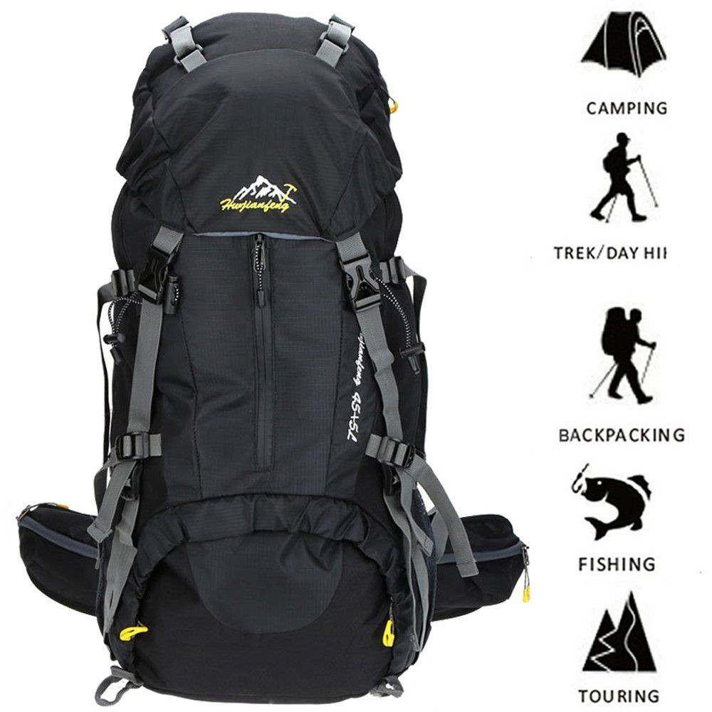 26dbeacfcfe3 Hiking Backpack ONEPACK 50L(45 5) Waterproof Backpacking Outdoor Sport  Daypack with Rain Cover for Climbing Mountaineering Camping Fishing Travel  Cycling ...