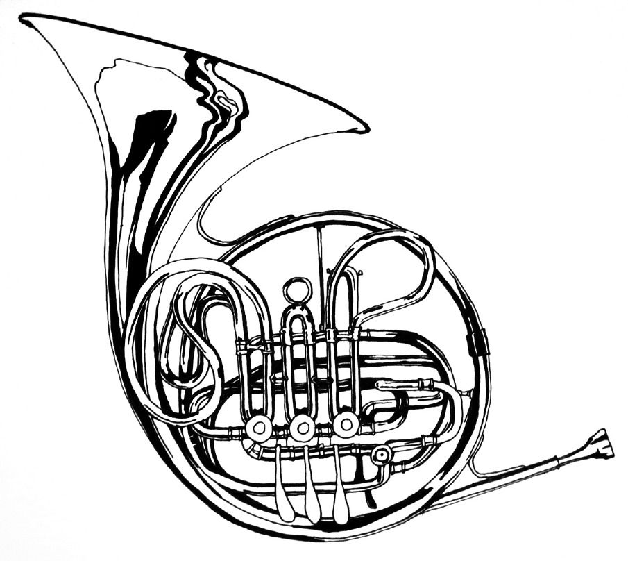 draw french horn images music pinterest french horn horn and rh pinterest com french horn clipart free french horn clipart free