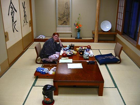 Traditionally Japanese People Eat On The Ground With Low Tables It