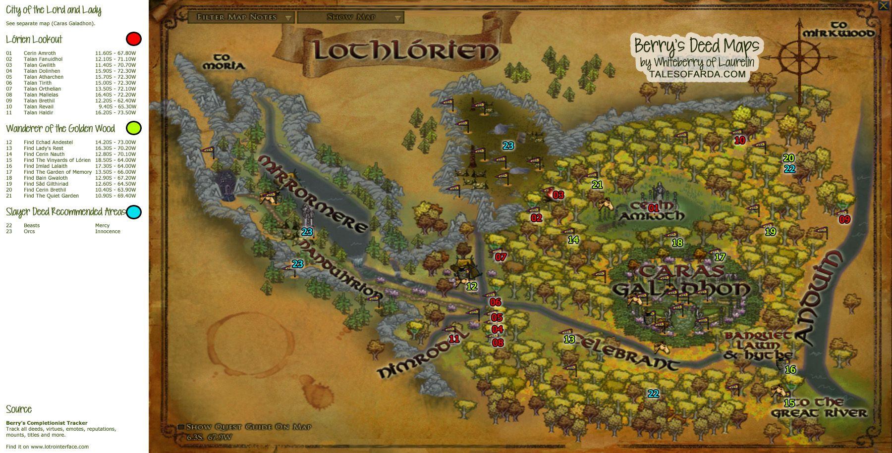 lothlorien | Deed Maps Rhovanion