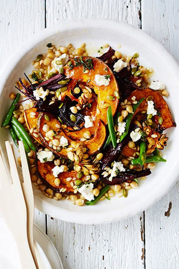 Roasted Pumpkin, Beet, Chickpea and Barley Salad: 13 Ways to Cook with Pumpkin