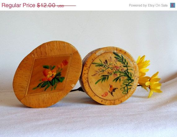 ON SALE Bamboo Jewel Boxes Asian Inspired Art on Lid by JJsBottega, $10.20