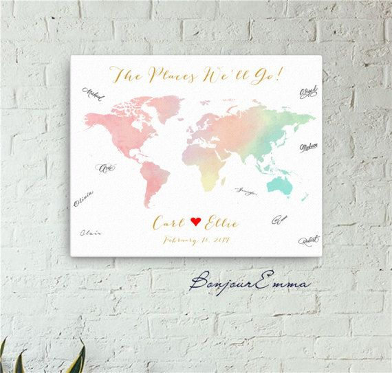 baby shower guest book alternative girl boy custom world map watercolor unique guest sign in guestbook poster printable digital print jpg