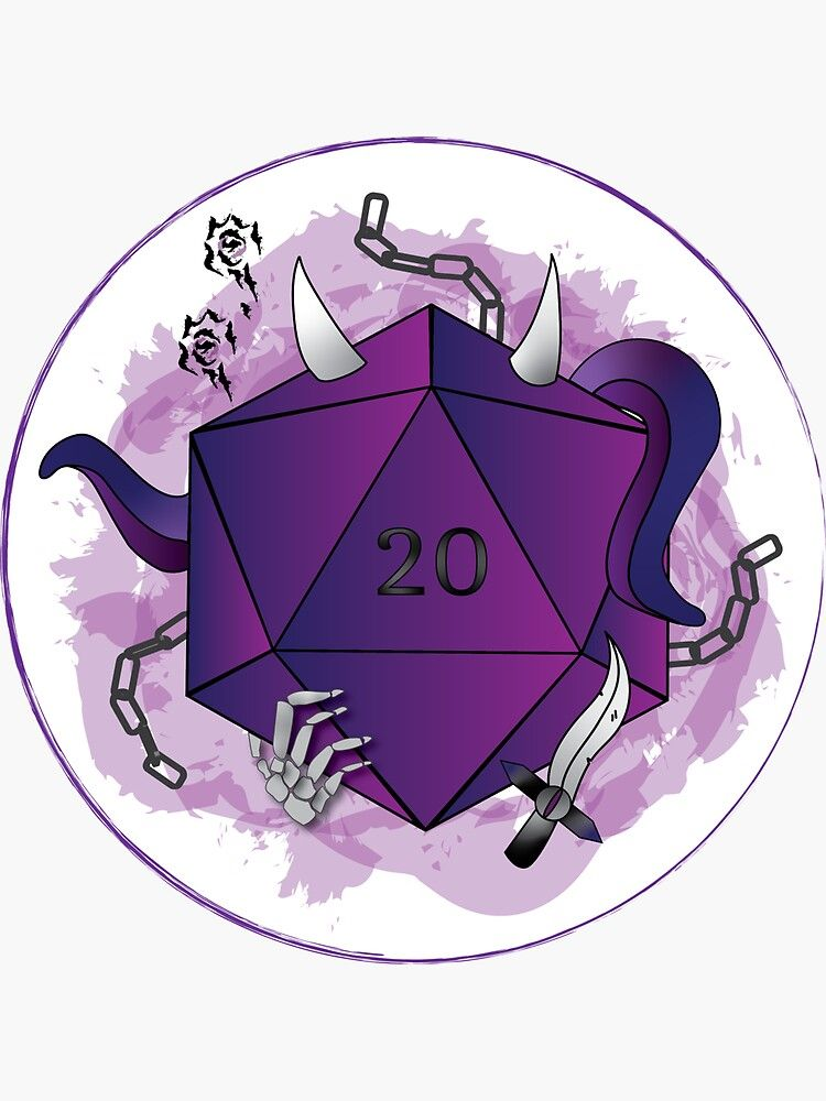 Warlock Dungeons and Dragons D20 Critical Role Warlock Class DnD Sticker