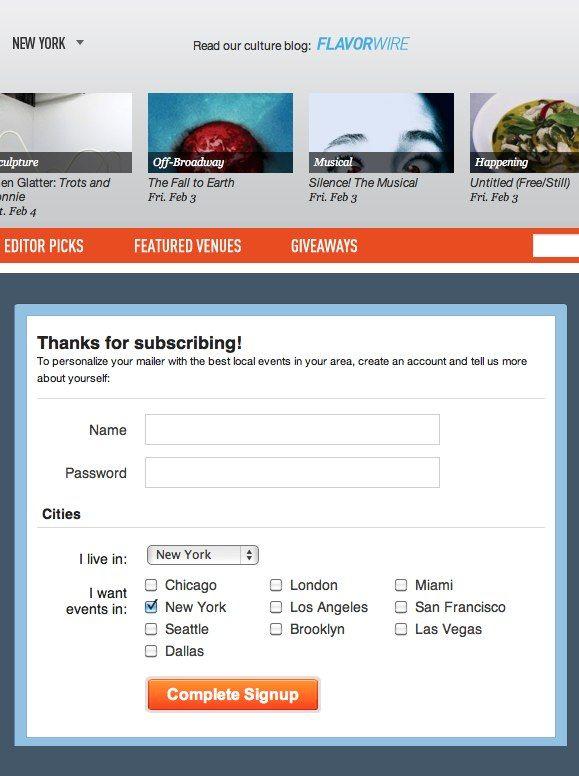 Thanks for sign-up Newsletter Sign-Up Screens Pinterest