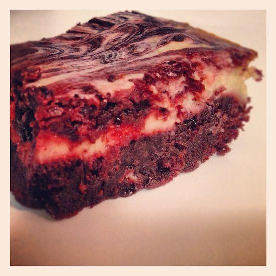 Red Velvet Cream Cheese Brownies recipe
