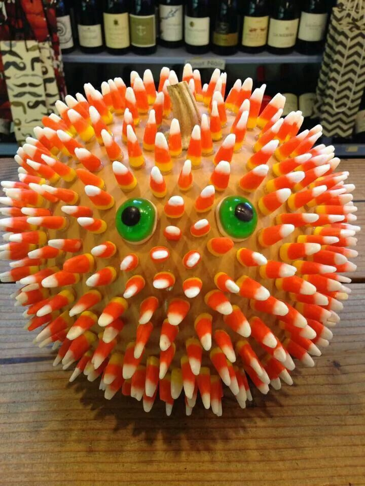 Pumpkin puffer fish halloween craft carve costume more in 2018 pinterest d coration - Citrouille effrayante ...