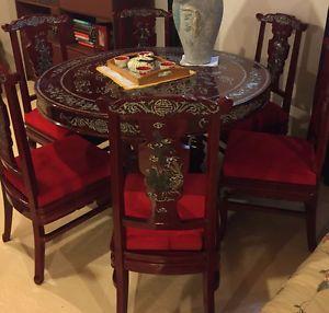Table De Cuisine Antique Orientale Chinois Rouge Mobilier De Salle A Manger Et Cuisine Laval Rive Nord Kijiji Kijiji Home Decor Table