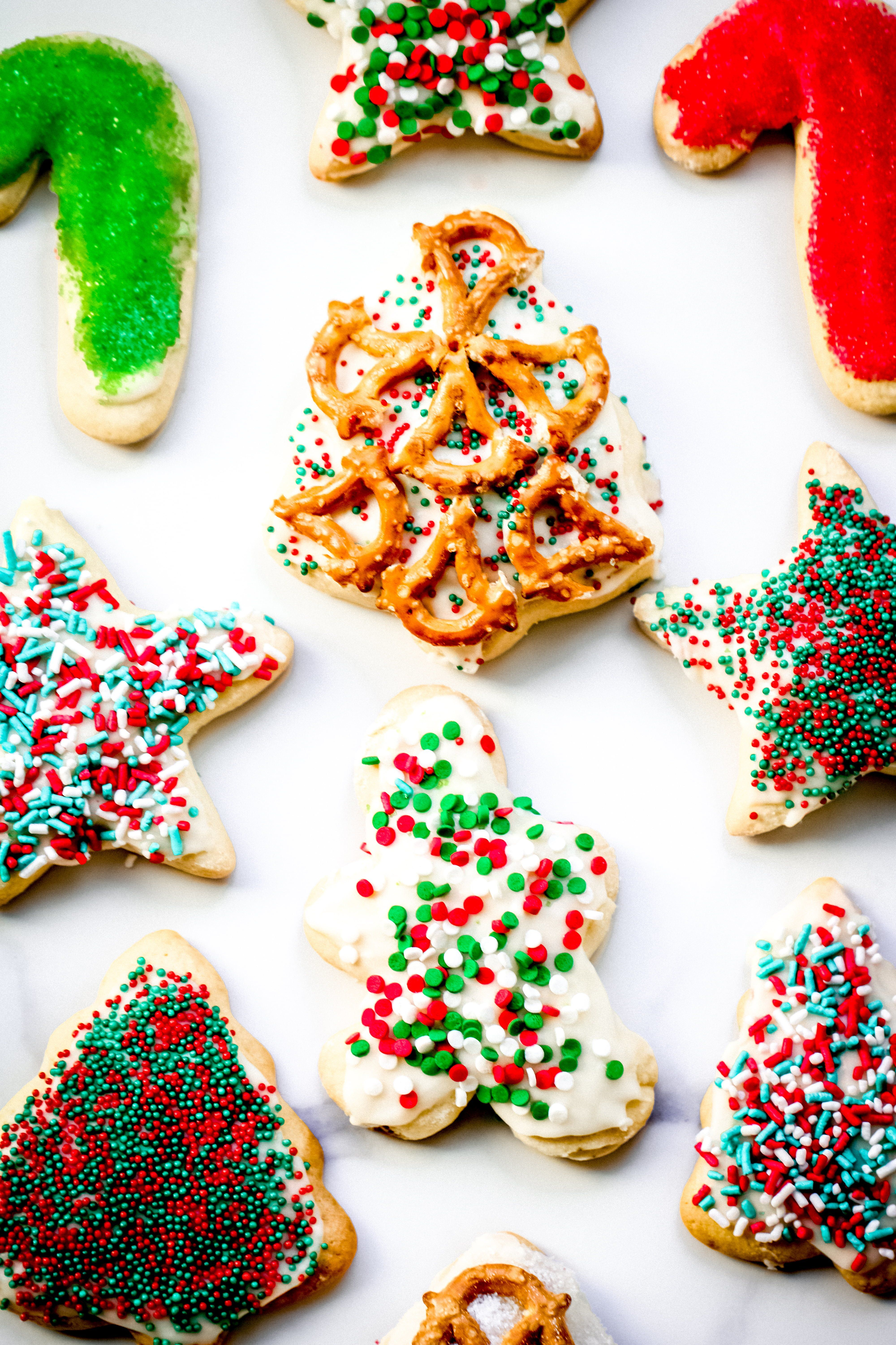The Best Sugar Cookie Recipe Holiday Cutouts Just For Fun Cookie Decorating Cookie Decorating Kits Sour Cream Sugar Cookies