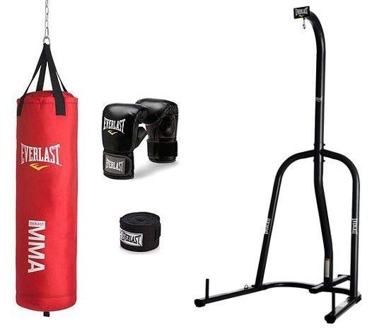 Boxing Equipment Free Stand Punching Heavy Bag Everlast MMA Kick Training New