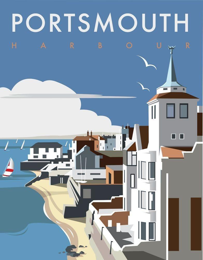 Portsmouth Travel Prints Posters Uk Travel Art