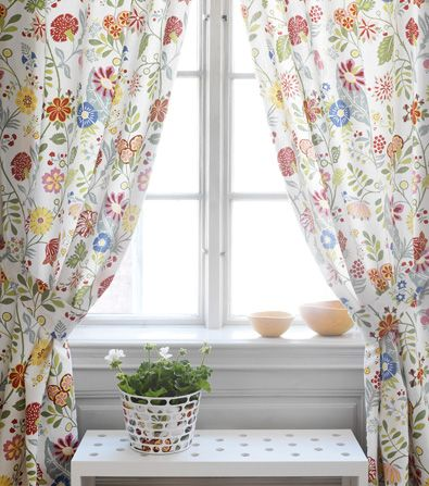 Anna Maria Kitchen Curtain Material For