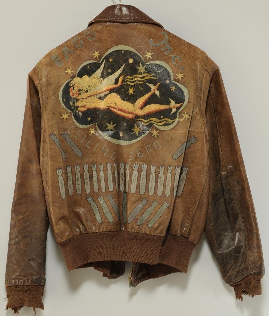 George A Pierce Wwii Bomber Jacket Archive Lot 617 Bomber Jacket Vintage Leather Flight Jacket Wwii Bomber Jacket [ 1024 x 871 Pixel ]