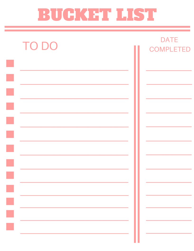 16 in 2016 bucket list free template baby p