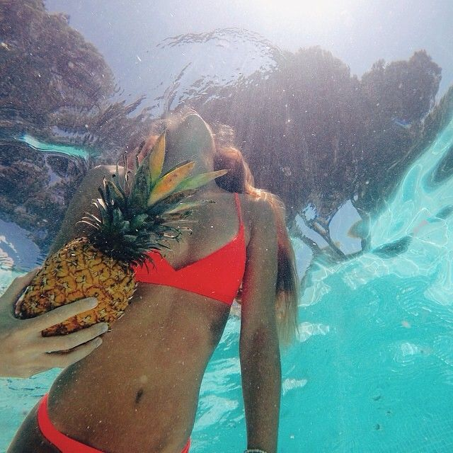 That's a pineapple, not a floaty...silly babe!