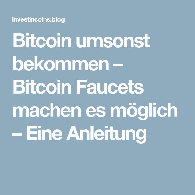 Bitcoins Umsonst