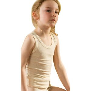 Hocosa Big Kids Organic 100/% Wool Sleeveless Undershirt
