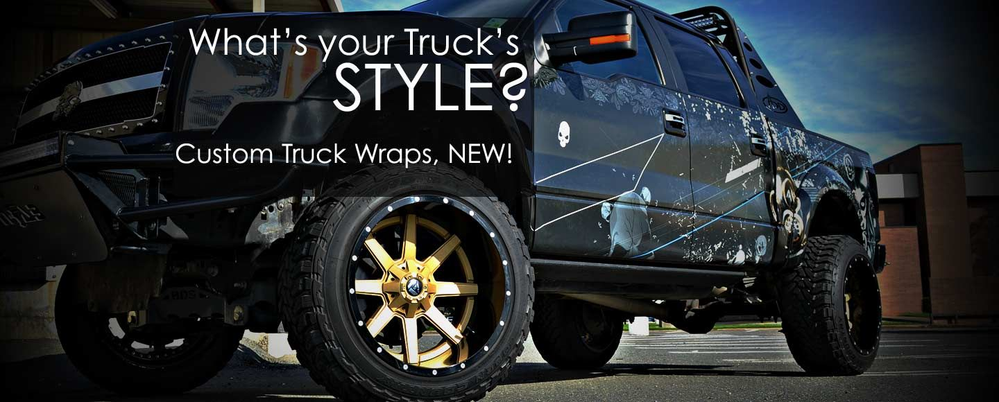 Truck wraps and grunge vinyl wrap
