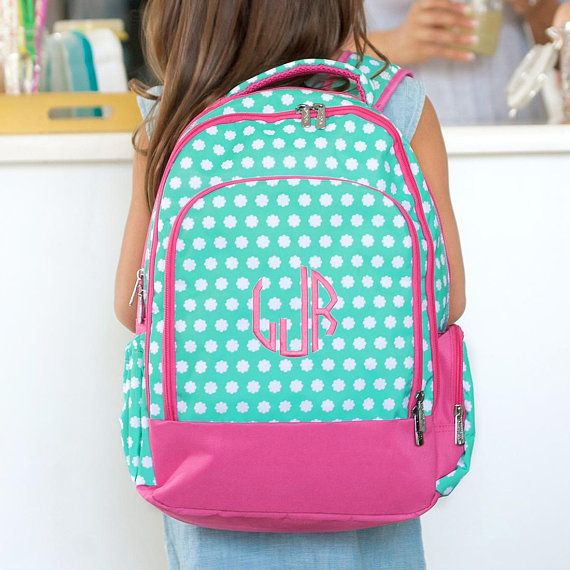 Monogrammed Backpack-Personalized Backpack-Hadley Bloom Backpack-Girl s  Backpack-Back To School-Pink 845f0103da720