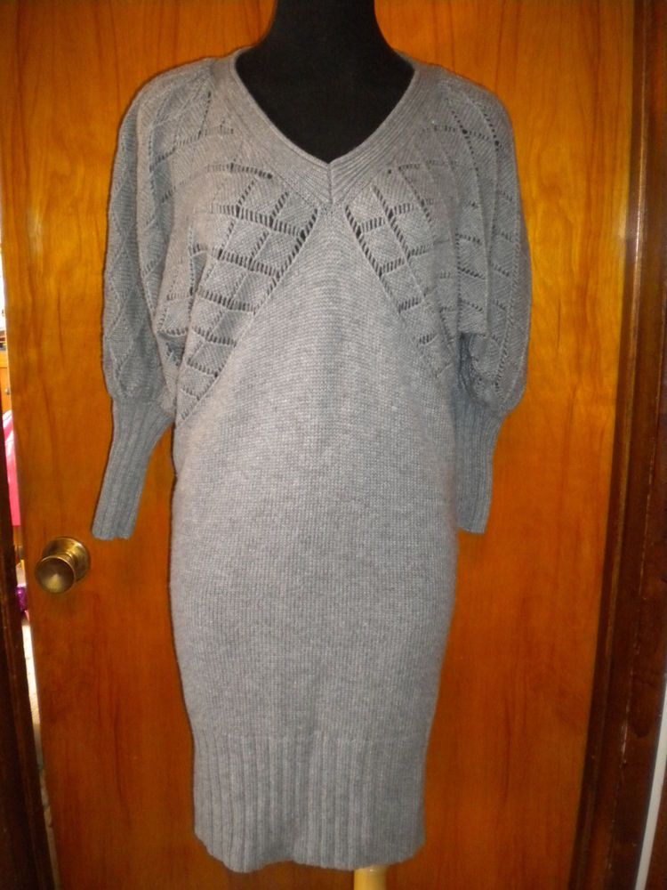 Victoria's Secret Moda International Gray Pointelle Crochet ...