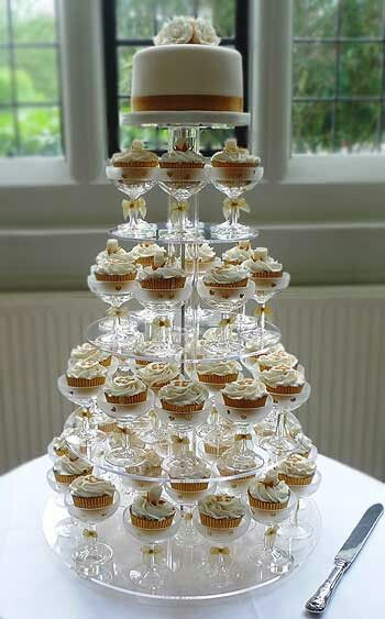 Cupcake Tower Display Stand Cocktail Glasses Goruntuler Ile
