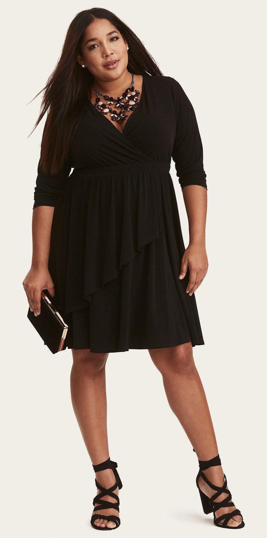 Black dresses for wedding guest   Plus Size Spring Wedding Guest Dresses with Sleeves  Pinterest