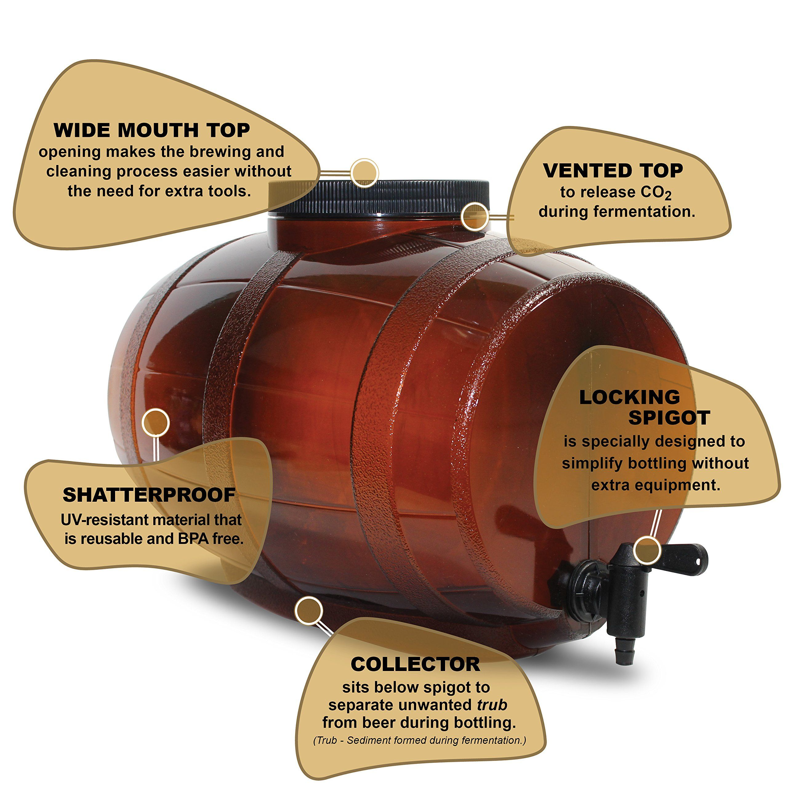 Mr. Beer Premium Gold Edition 2 Gallon Homebrewing Craft