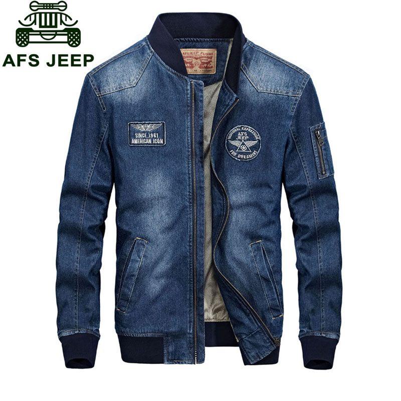 L 4xl New 2017 Spring Retro Denim Jackets Fleece Mens Jeans Coats