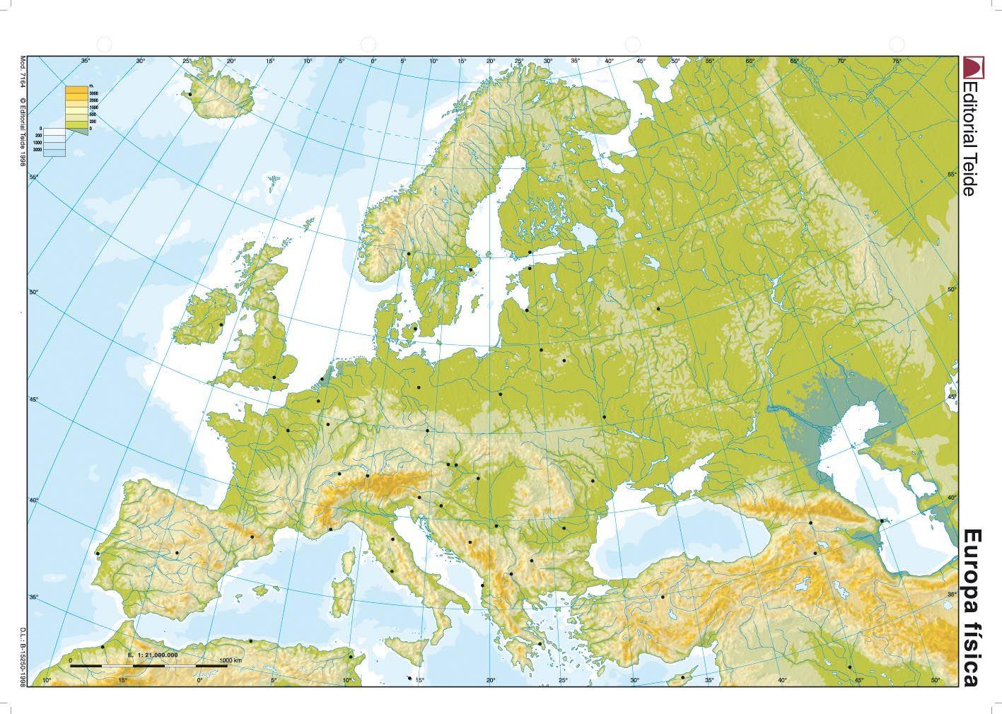 Europa Mapa Fisico Mudo.Resultado De Imagen De Europa Mapa Fisico Mudo Biologia