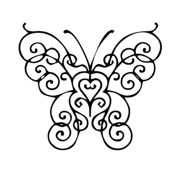 Beautiful And Cute Butterfly Coloring Page | Kids Coloring Pages ...