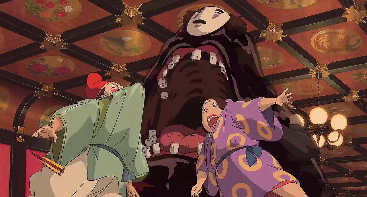 Image result for no face eating Anime, Spirited away