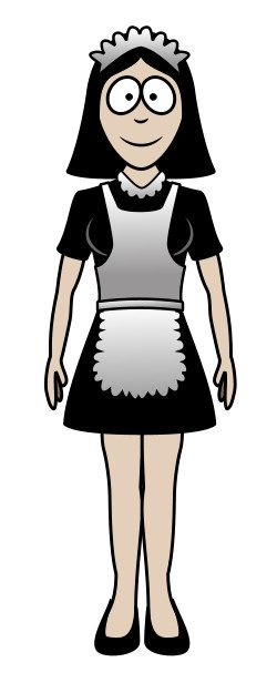 Wish this cartoon maid could help me for real!