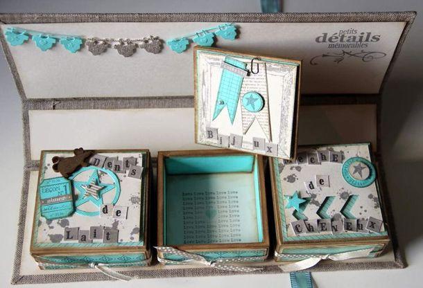 Assez coffret cadeau naissance fait main | boite naissance | Pinterest  BU05