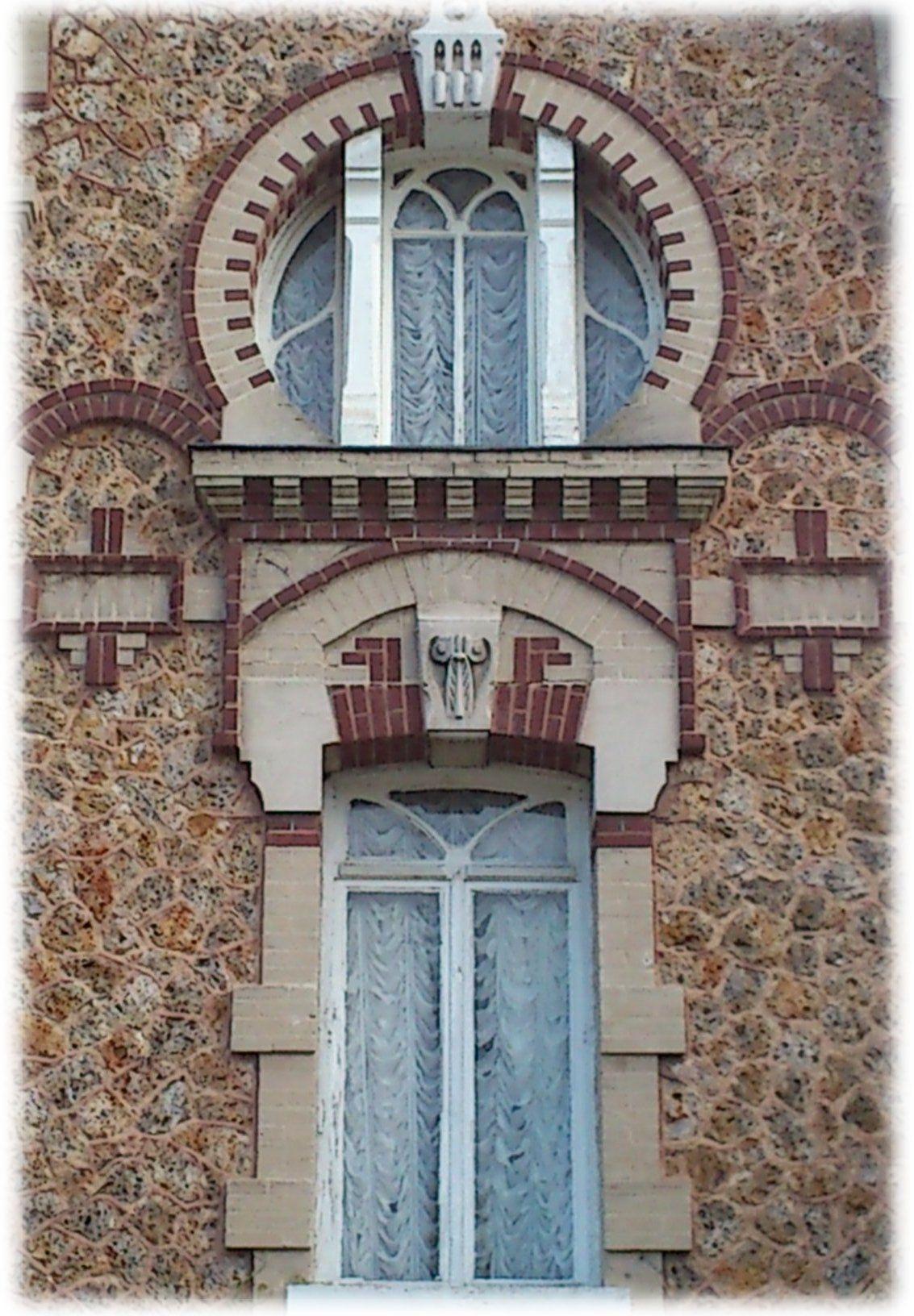 Fen tres art nouveau villa les lauriers 1906 pont de l 39 arche france 27340 portes for Fenetre villa