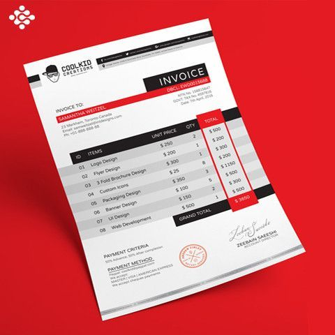 Invoice Design u2026 Pinteresu2026 - create invoice for free