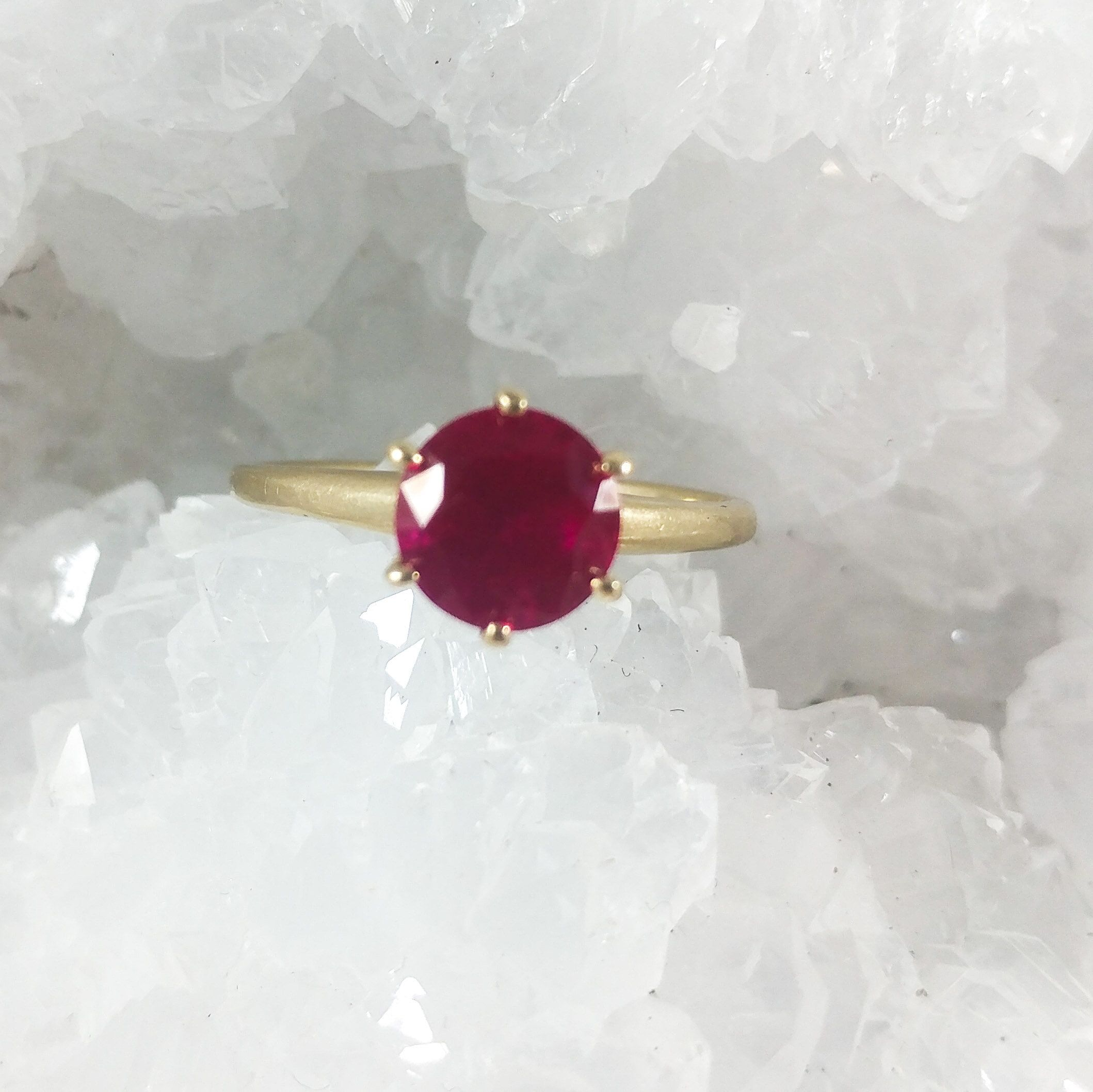 Ruby Solitaire Engagement Ring 10k Yellow Gold Ruby Solitaire Etsy Solitaire Engagement Ring Solitaire Engagement Vintage Jewelry