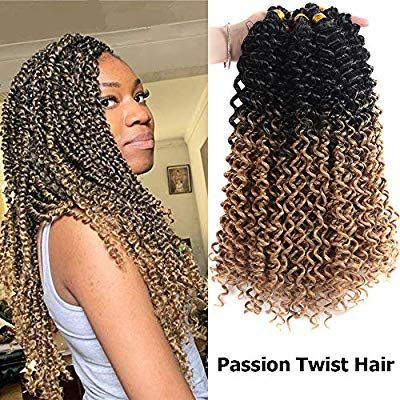 7 Packs Passion Twist Hair 18 Inch Water Wave Bohemian Braids for Passion Twist Crochet Braiding Hair Extensions (T1B/27) #passiontwistshairstyle
