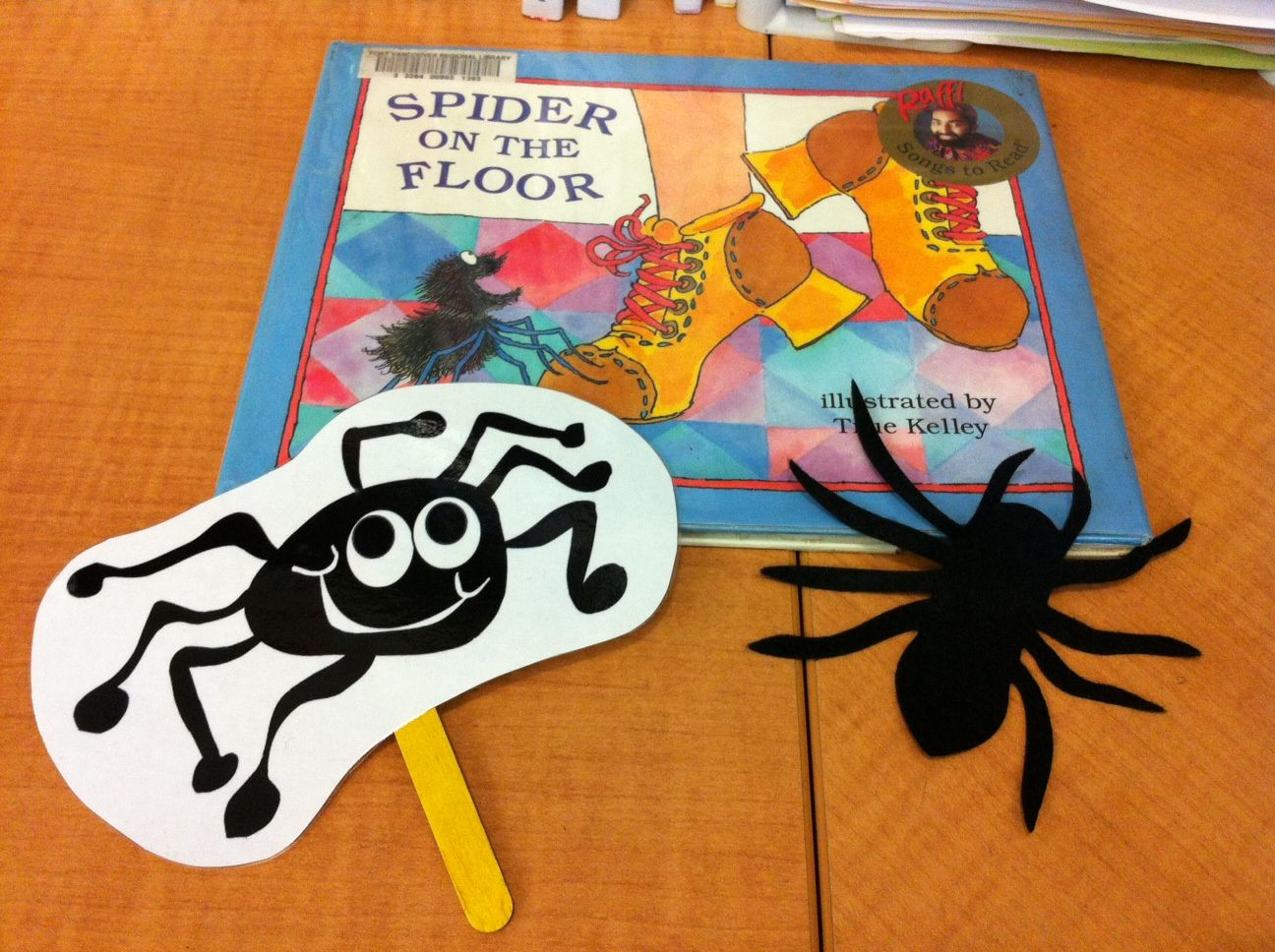 Flannel Friday Spider On The Floor Flannel Friday Halloween Preschool Insects Theme [ 968 x 1296 Pixel ]