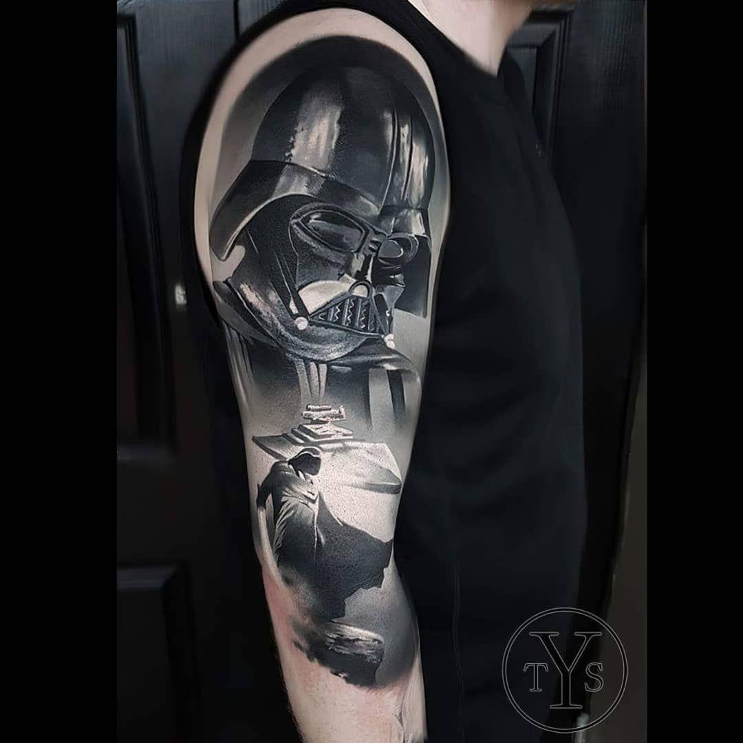 5bc35ed2d Darth Vader tattoo sleeve by @yarson_tattoo | Tattoo Ideas ♡ | Star ...