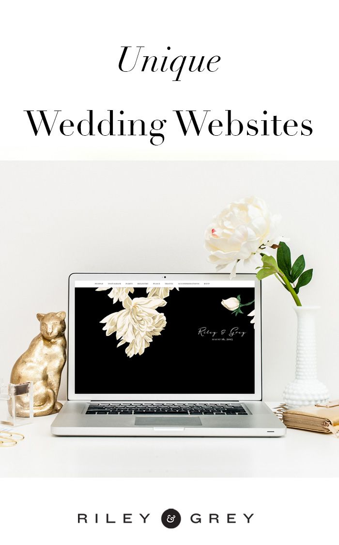 "camellia"" floral wedding website example from riley & grey. click"